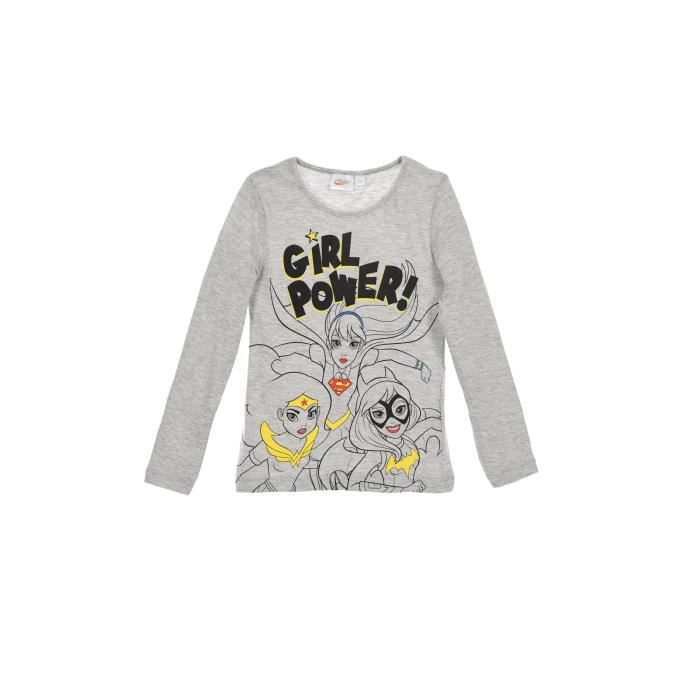 DC SUPER HERO GIRLS T-shirt Gris Clair Enfant Fille