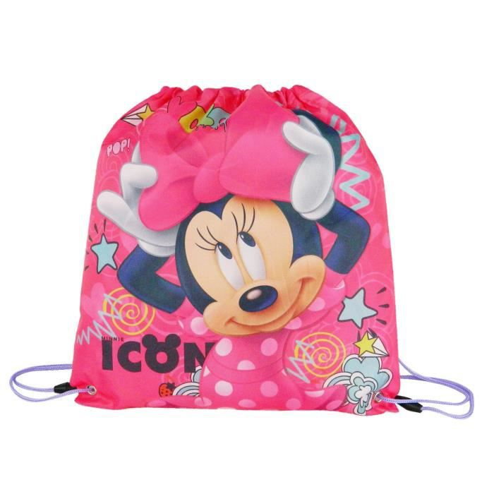 MINNIE - SAC GYM Primaire Fille 32x0x43 ROSE