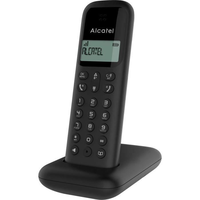 ALCATEL Téléphone fixe D285 SOLO Noir sans fil dect solo écoute amplifiée