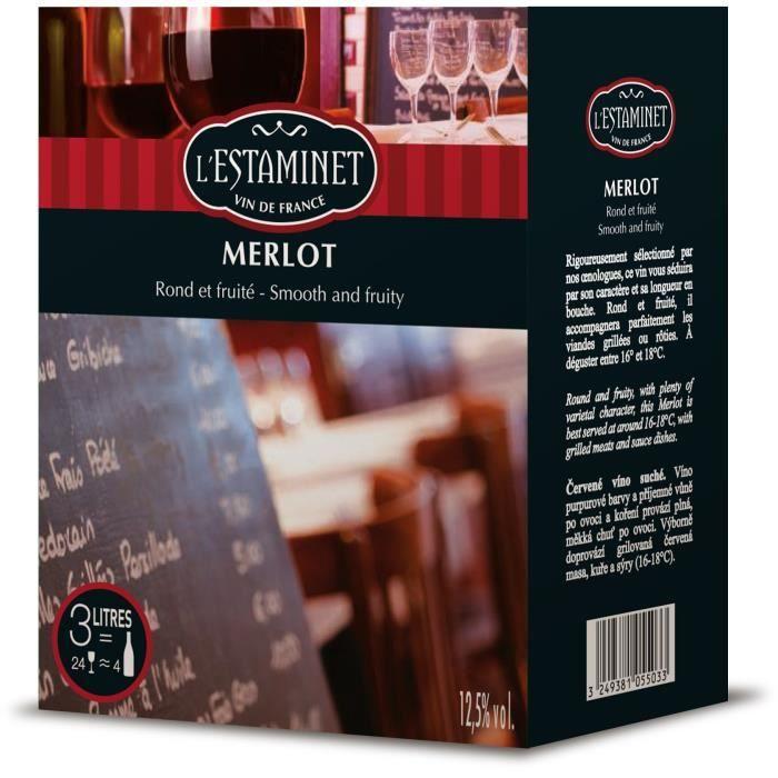 L'Estamet - Vin rouge du Languedoc Roussillon - 3 l