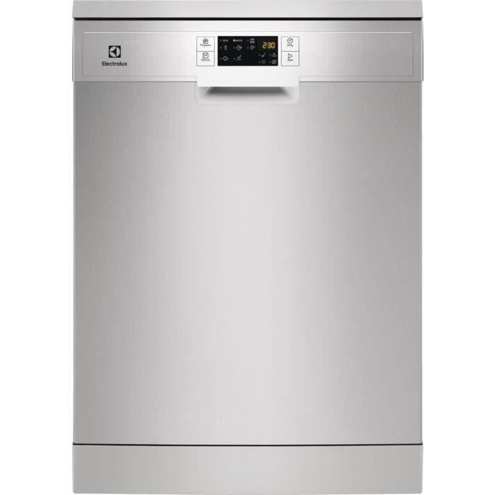 Lave-vaisselle pose libre ELECTROLUX ESF5512LOX - 13 couverts - Moteur induction - Largeur 60 cm - Classe A+ - 47 dB - Inox/silver