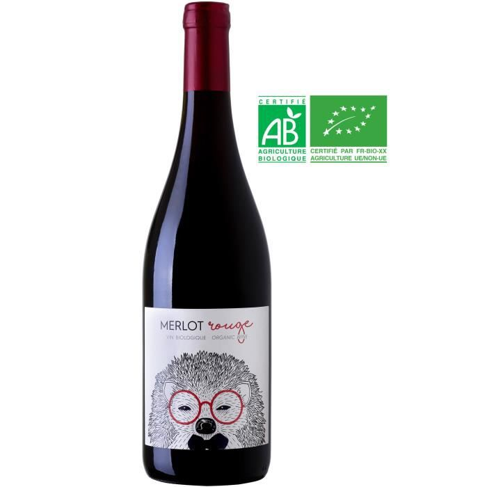 Hérisson 2019 Merlot - Vin rouge de France - Bio