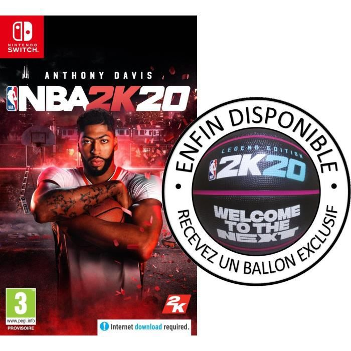 NBA 2K20 Édition Standard Jeu Switch + Ballon SPALDING Exclusif offert