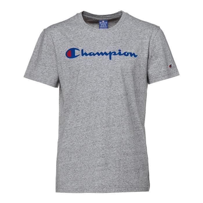 CHAMPION T-shirt manches courtes - Homme - Gris chiné