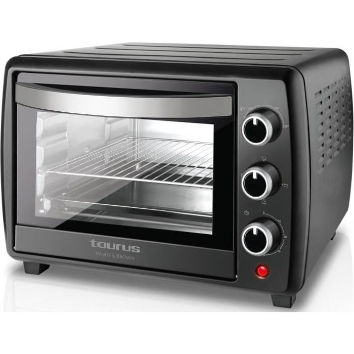 TAURUS Horizon 22 Plus-Mini four-22 L-1500 W-Cuisine traditionnelle, sole, voûte et convection-Noir