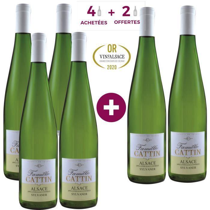 4 Achetées = 2 Offertes - Famille Cattin Sylvaner 2019 Alsace - Vin blanc d'Alsace