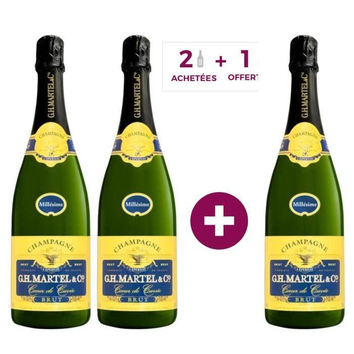 2 achetées + 1 offerte - Champagne GH Martel Cœur de Cuvée Millésimé