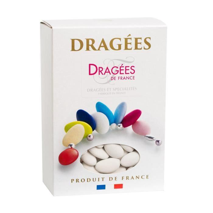 DRAGEES DE FRANCE Dragées Avola Lys 44% Amande - Couleur : blanc - Boîte 1 kg