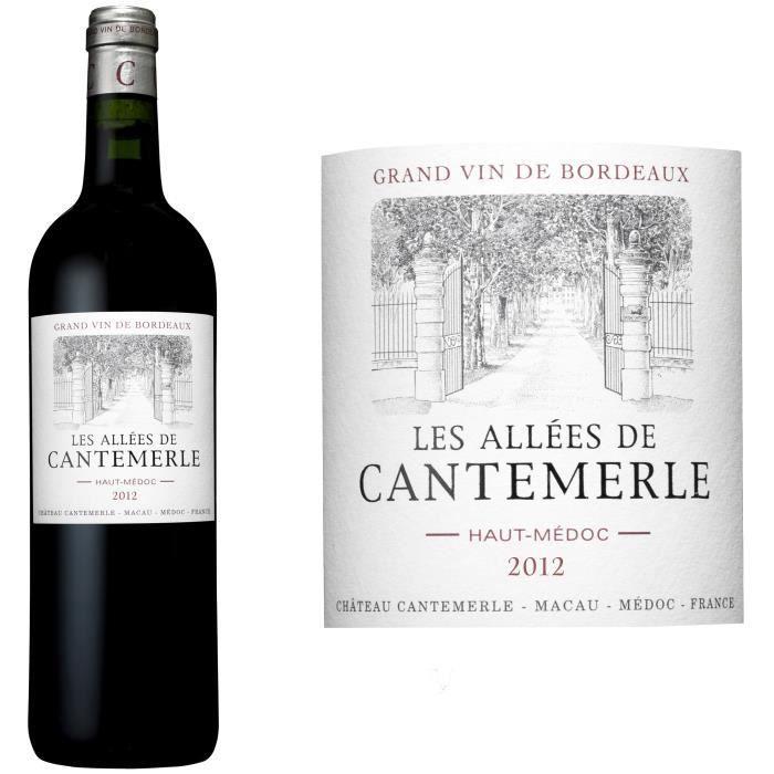 Les Allées de Cantemerle 2012 Haut Médoc - Vin rouge de Bordeaux