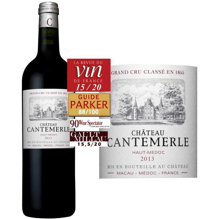 Château Cantemerle 2013 Haut Médoc - Vin rouge de Bordeaux