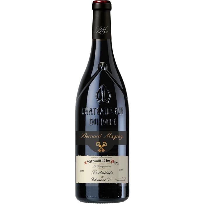 BERNARD MAGREZ Compassion Destinée Clément V 2017 Chateauneuf du Pape - Vin rouge de la Vallée du Rhône