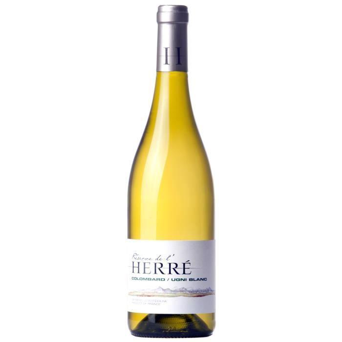 Réserve de l'Herre Colombard Ugni Côtes de Gascogne 2020 - Vin blanc du Sud-Ouest