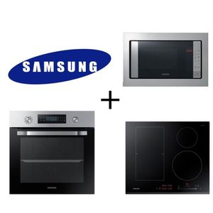 PACK cuisson SAMSUNG : NV66M3571BS Four-Chaleur pulsée-66L + NZ64K5747BK - Table induction + FW87SST Micro onde encastrable