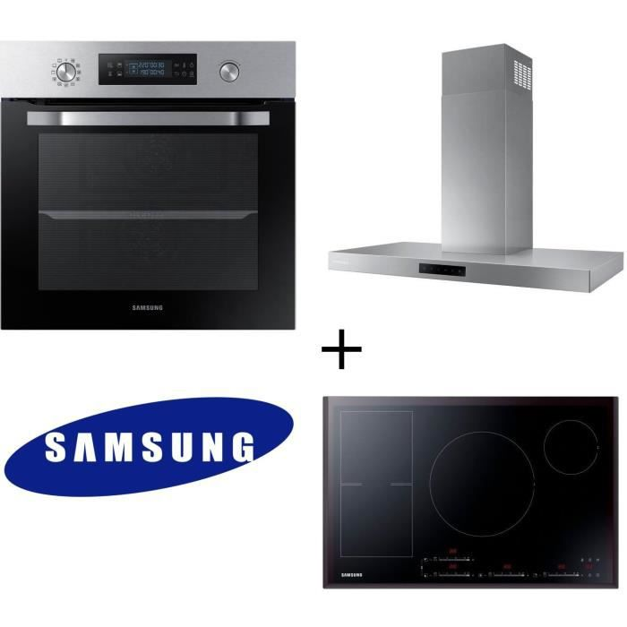 Pack cuisson Samsung NV66M3571BS - Four électrique + NZ84F7NC6AB/EF Table de cuisson induction + NK36M5060SS/EF Hotte