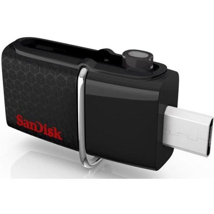 Sandisk Clé Usb Ultra Dual Drive 3.0 128Go Noir