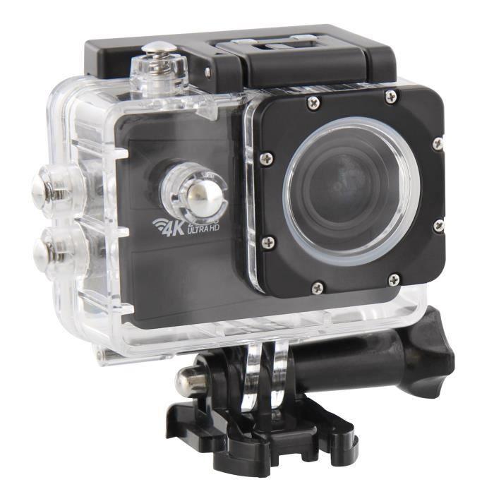 T'nB SPCAM4K Caméra sport 4K WiFi - Capteur CMOS 16 mégapixels - 15 accessoires fournis - Noir