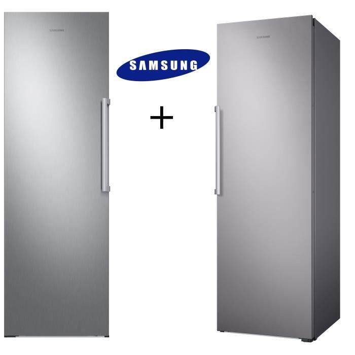 PACK FROID SAMSUNG RR39M7000SA-Réfrigérateur-385 L-Froid ventilé intégral + RZ32M7000SA-Congélateur-315 L-Froid ventilé intégral