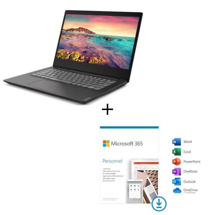 "LENOVO Ideapad S145 15AST 15"" HD-AMD A6-9225-RAM 4Go-Stockage 512 SSD-AMD Radeon R4-Win10+ Micr"