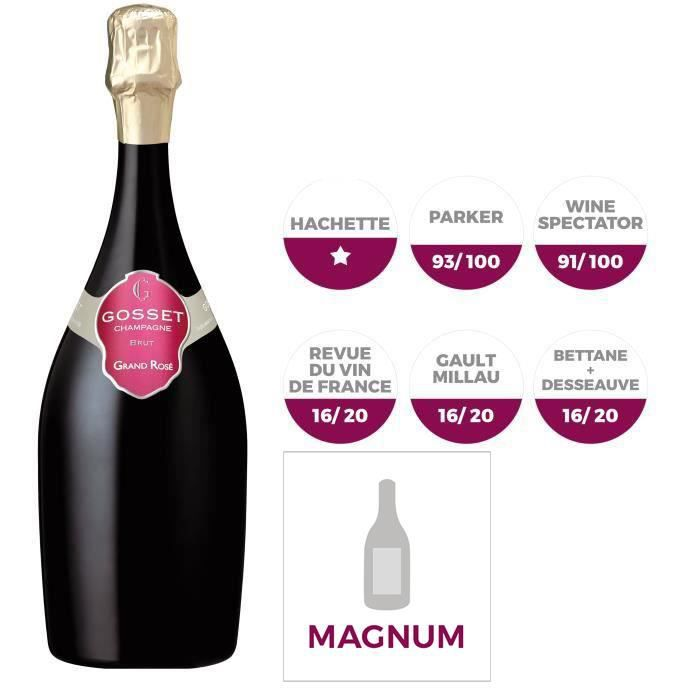 Champagne Gosset Grand Rosé - Magnum 1,5L