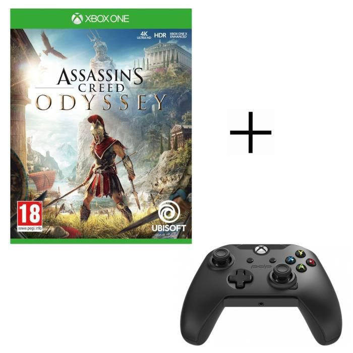 Assassin's Creed Odyssey Jeu Xbox One + Manette PDP Afterglow Noire Xbox One