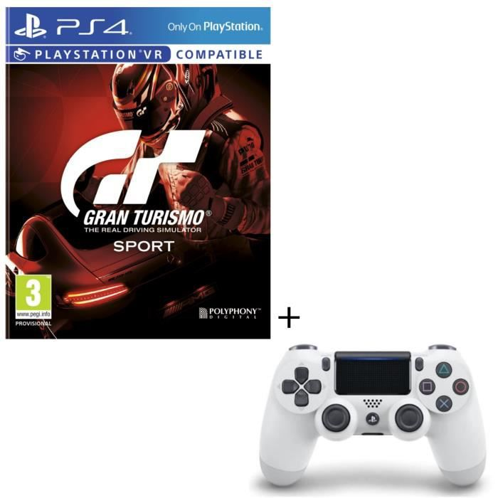 Pack Gran Turismo Sport + Manette DS4 Blanche