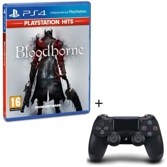 Pack Bloodborne PlayStation Hits + Manette PS4 DualShock 4 Noire V2