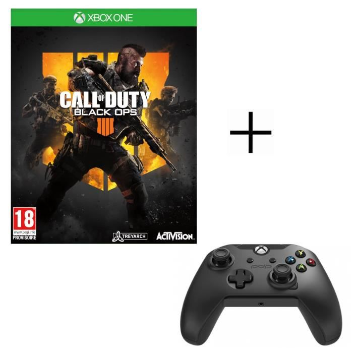 Call of Duty Black OPS 4 Jeu Xbox One + Manette PDP Afterglow Noire Xbox One