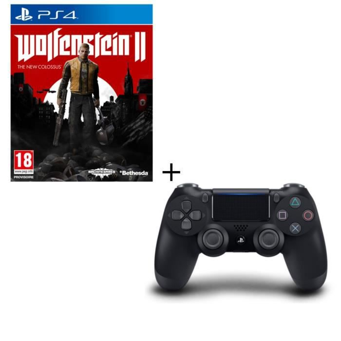 Wolfenstein II The New Collossus + Manette PS4 Noire