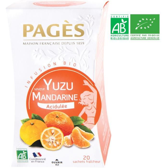 PAGES Infusion Yuzu Mandarine - Bio