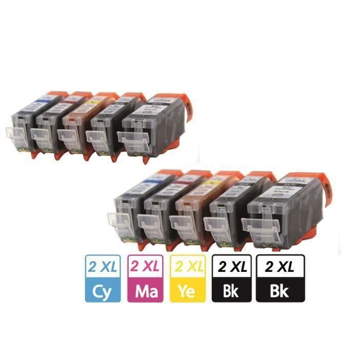 Compatible Pack de 10 cartouches d'encre Canon Pgi 550 Cli 551