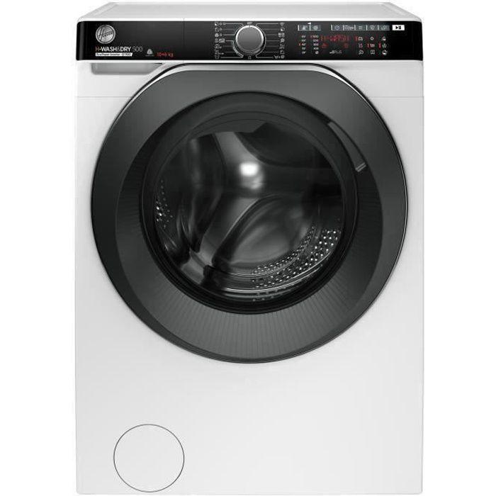 Lave-linge séchant HOOVER H-Wash&Dry 500 HDP5106AMBC/1-S - Lavage 10 kg / séchage 6 kg - Classe A - 1500 tours/min - Blanc