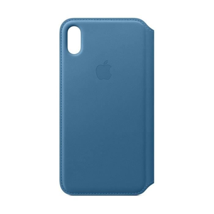 iPhone XS Max Housse en cuir - Bleu Cape Cod
