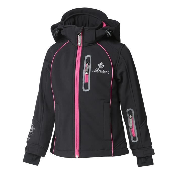 NORTHLAND Softshell Polaire Kim noir - Fille