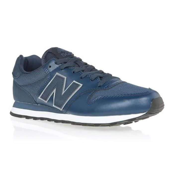 NEW BALANCE Baskets NB500 Bleu Marine Mixte