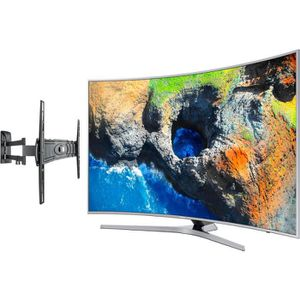 Pack SAMSUNG UE65MU6505 TV LED Incurvée UHD 163cm + MELICONI CURVED 400DR Support mural Slim