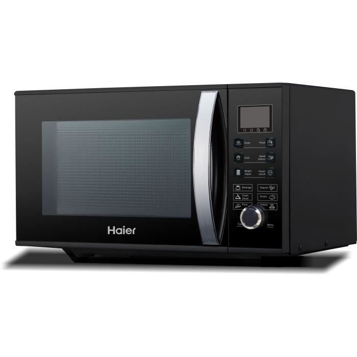 HAIER HGN-2390HEMGB - Micro ondes grill noir - 23 L - 900 W - Grill 1000 W - Pose libre