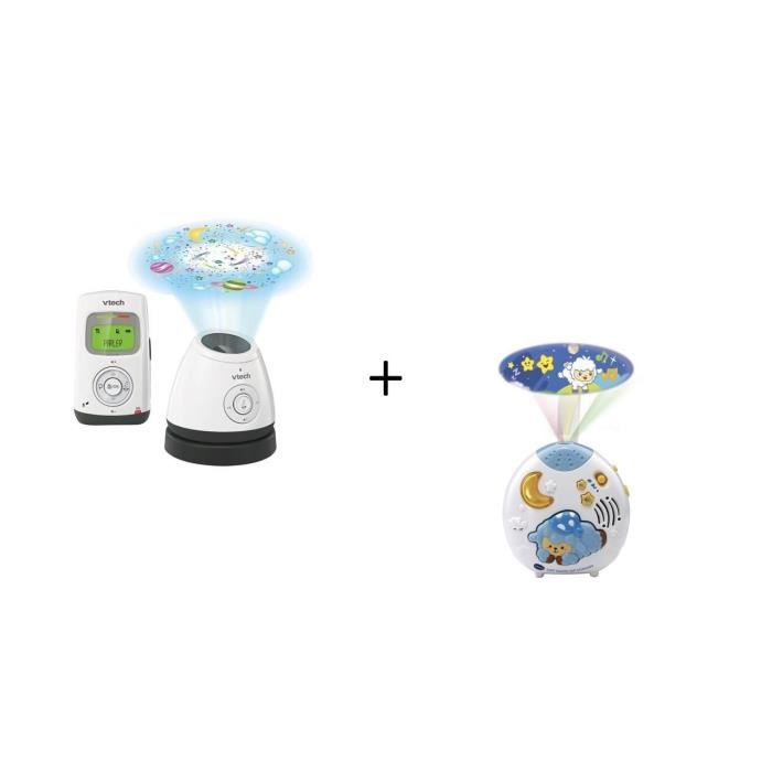 VTECH - Babyphone Audio Light Show - Bm2200 et Lumi mouton nuit enchantée bleu