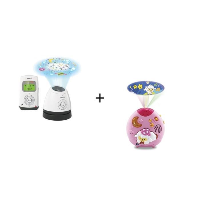 VTECH - Babyphone Audio Light Show - Bm2200 et Lumi mouton nuit enchantée rose