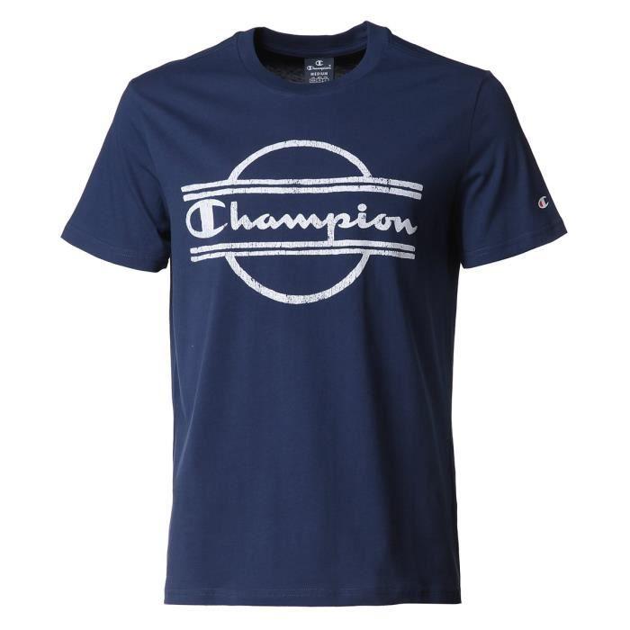 CHAMPION T-Shirt Tee-shirt logo Blue - Homme - Bleu