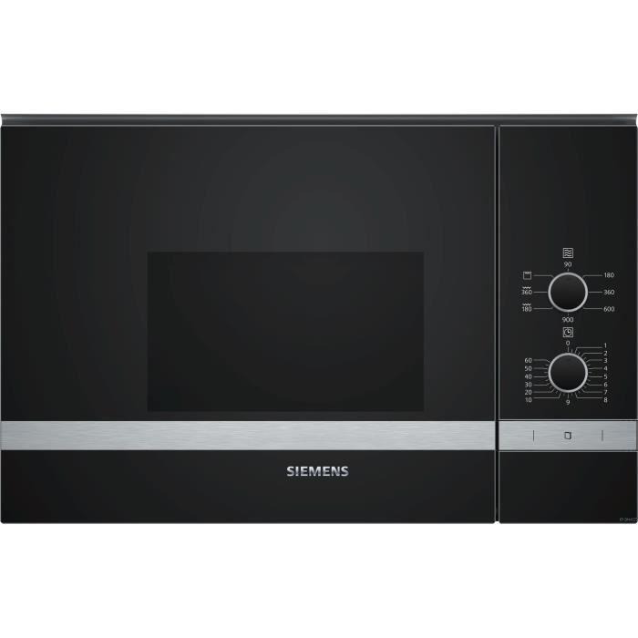 SIEMENS BE550LMR0-Micro ondes grill encastrable inox-20 L-800 W-Grill 1200 W