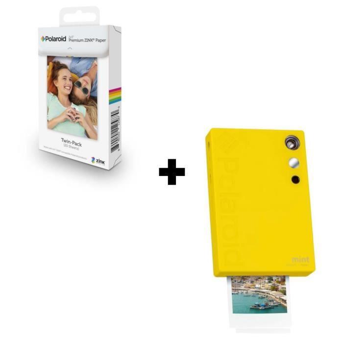 POLAROID Mint Imprimante photo portable Jaune + 20 Films