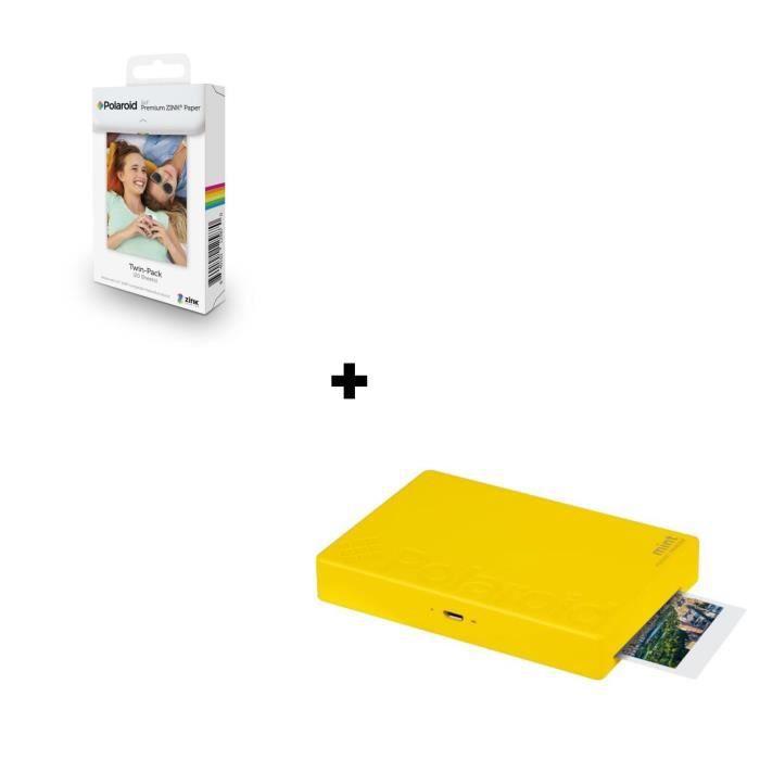POLAROID Mint Imprimante photo mobile Bluetooth - Impression format 2-x3- - Rouge + 20 Films