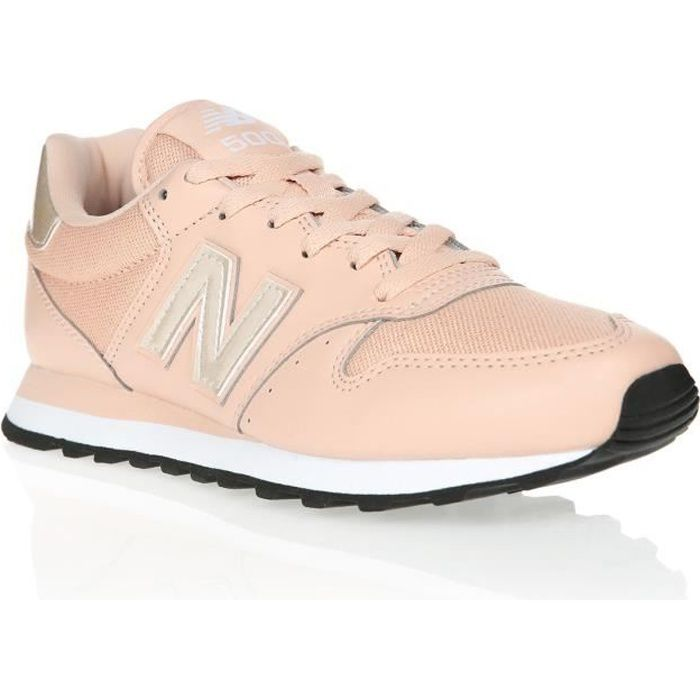 NEW BALANCE Baskets NB500 Rose Mixte