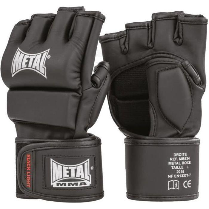 METAL BOXE Gants MMA - Noir