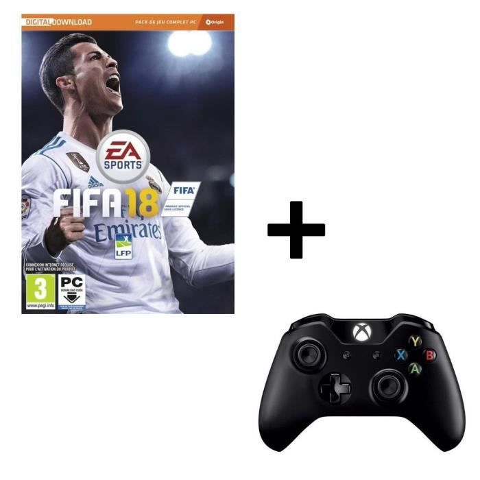 Pack FIFA 18 Jeu PC + Manette Sans Fil PC / Xbox One