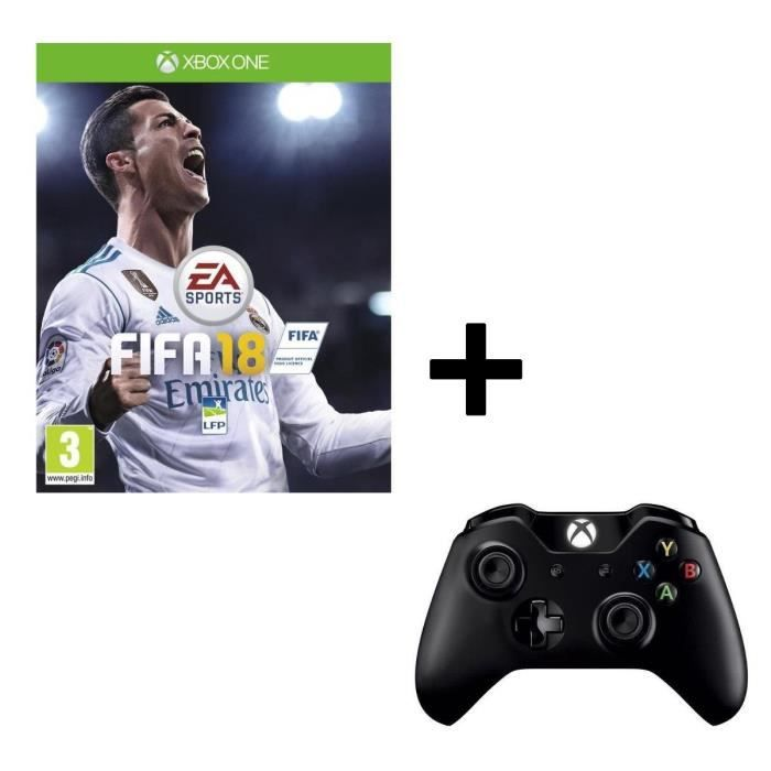 Pack FIFA 18 Jeu Xbox One + Manette Sans Fil PC / Xbox One