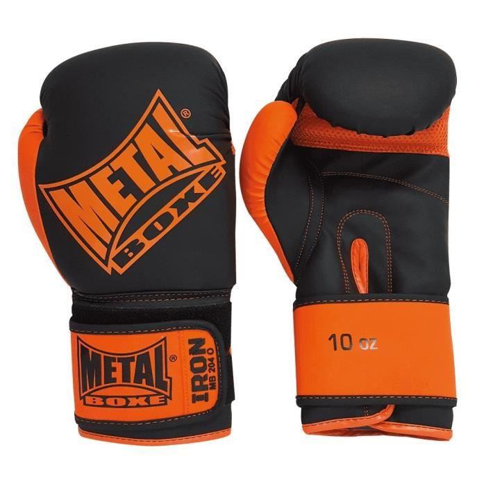 METAL BOXE Gants Iron Entraînement - Noir et Orange
