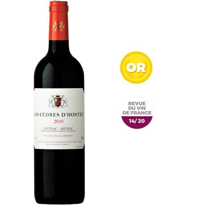Les Cèdres d'Hosten 2010 Listrac Médoc - Vin rouge de Bordeaux