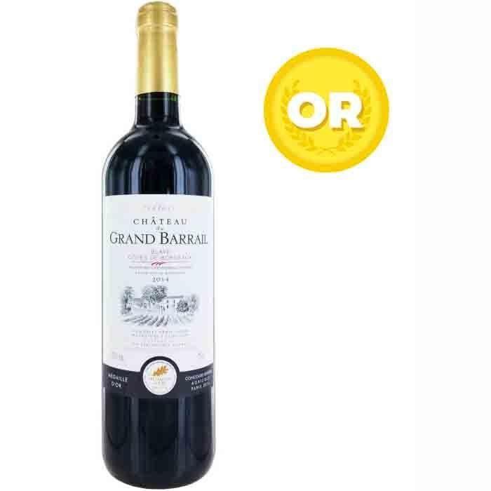 Château Grand Barrail 2014 Blaye - Vin rouge de Bordeaux