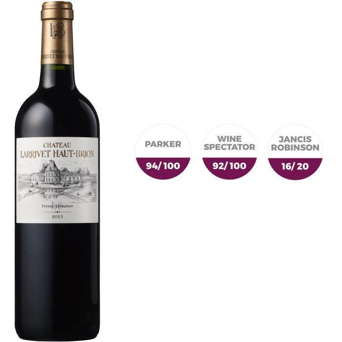 Château Larrivet Haut Brion 2015 Pessac Léognan - Vin rouge de Bordeaux